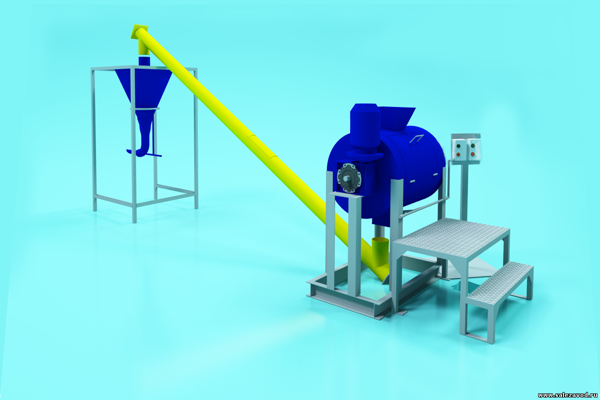 Мини-завод по производству сухих строительных смесей на гипсовой основе.