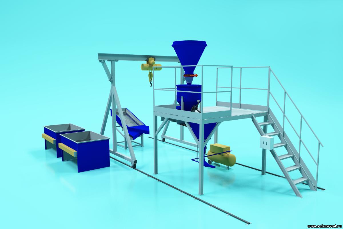 Минизавод по производству сухих строительных смесей производительностью 10 тонн в смену