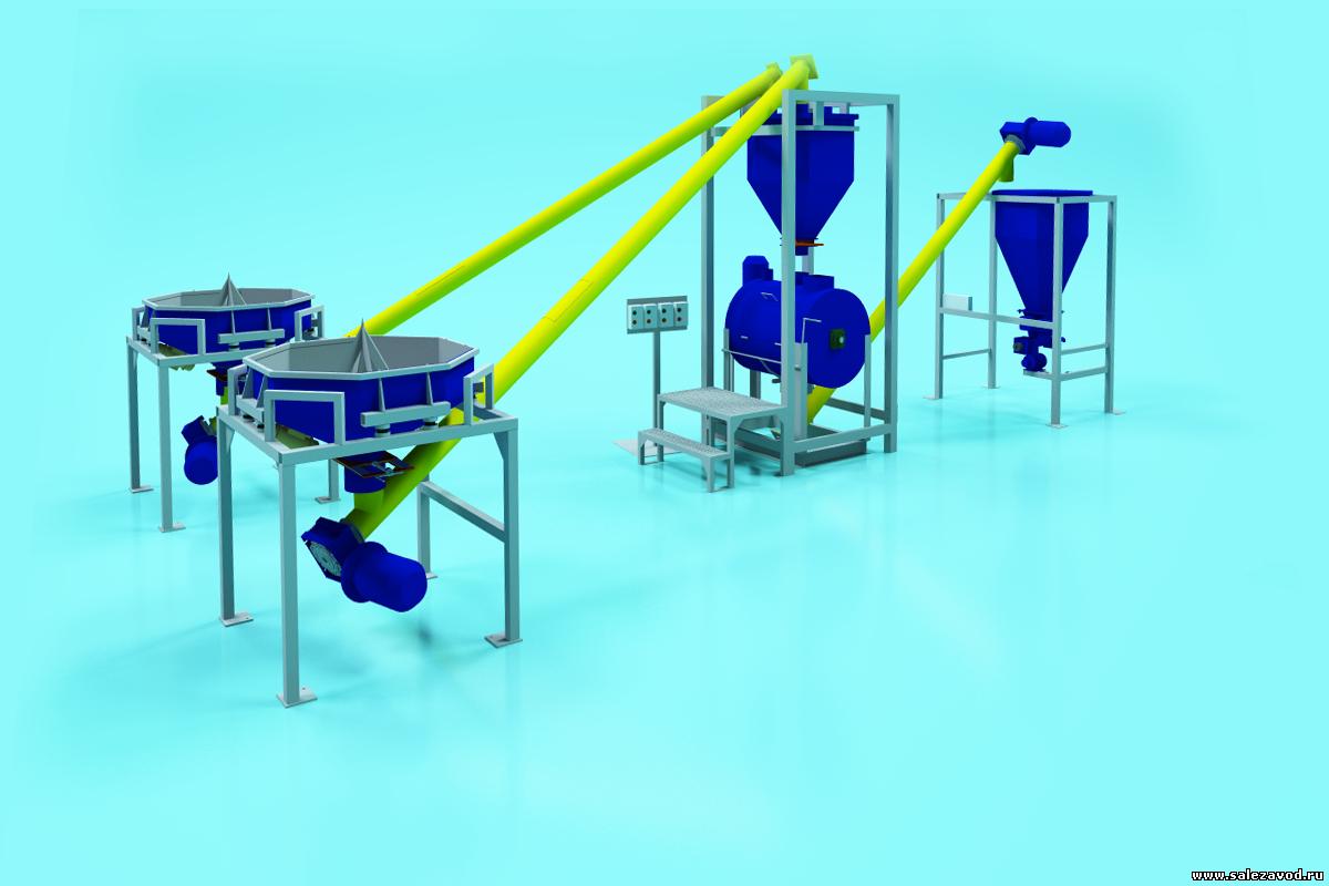 Полуавтоматическая линия по производству ссс 20 тонн в смену