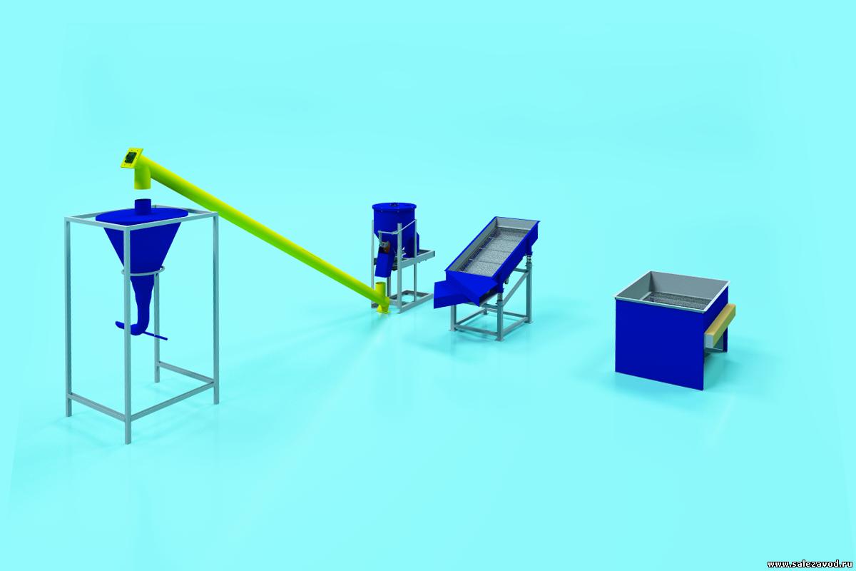 Мини-завод по производству сухих строительных смесей производительностью 5 тонн в смену