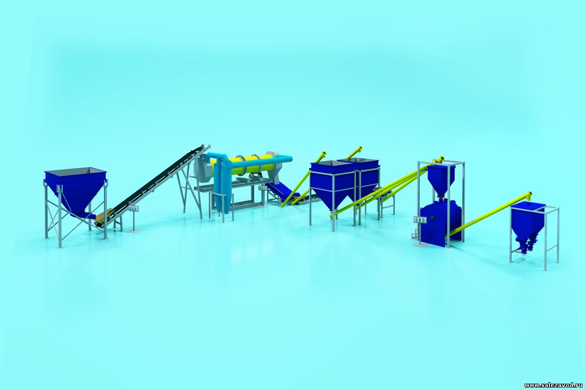 Полуавтоматическая линия для производства сухих строительных смесей 8 тонн в час